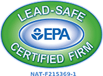 Lead-Safe Roofing Contractor certified by EPA
