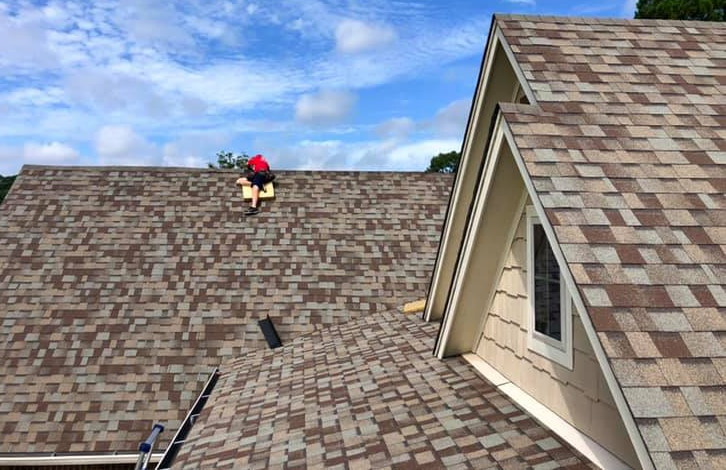 Restoring storm damage by installing a new roof vent